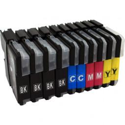 30er Combobox (kompatibel zu Brother LC980/LC1100) 12B/6C/6M/6Y