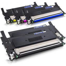 5er Combobox Rebuilt Toner zu Samsung CLT-K406S (CLP-365) B/C/M/Y
