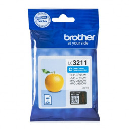 Original Brother LC-3211 C Tinte Cyan